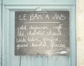 Le Bar a Vins - 8x10 Fine Art Photograph - France Home Decor French Hand Written Sign Typography Lettering Chalkboard Cafe Wall Art