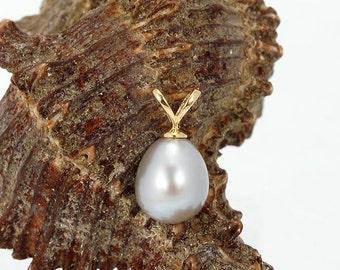 14 kt grey Freshwater Pearl Pendant