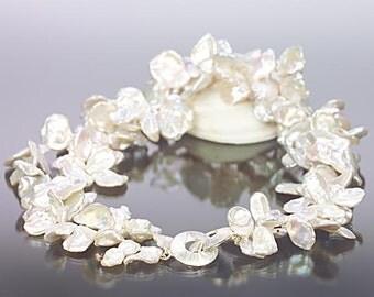 White Keshi Necklace