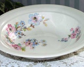 Pretty Vintage 1940s Knowles China Floral Vegetable Serving Bowl Cottage Chic