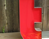 Vintage Channel Letter Red, lowercase t, Signage