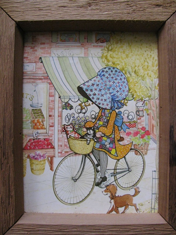 Holly Hobbie Girls - Set of Vintage Framed Art, Ready to Hang