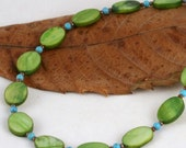 Spring Leaves necklace (17 inch - 43 cm)