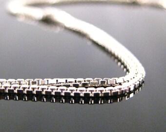 16 inch Rhodium Sterling Silver Box Chain