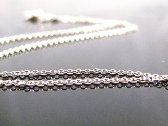 16 inch Rhodium Sterling Silver Cable Chain