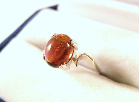 Rubellite Tourmaline Oval Cab Ring