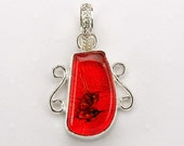 SALE - Steampunk Dichroic Glass and Silver 1.5 Inch Pendant
