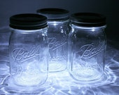 SUMMER SALE - Set of 3 - Mason Jar Lanterns