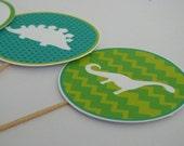 PRINTABLE Dinosaur Cupcake Toppers