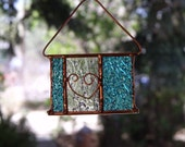 Copper Heart Stained Glass Suncatcher