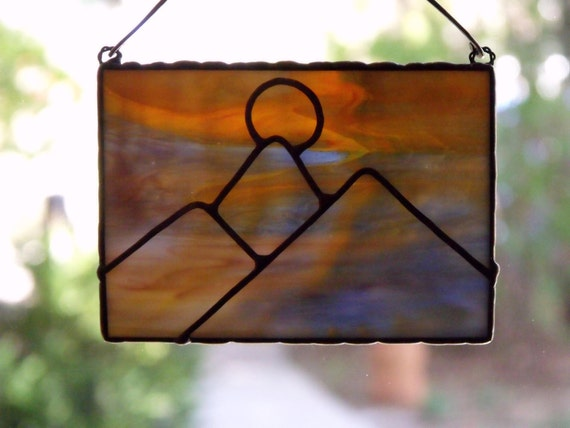 Sunset In The West Stained Glass Suncatcher