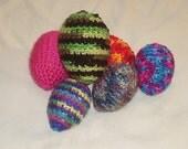 Crochet Rattle Egg Ferret Toys