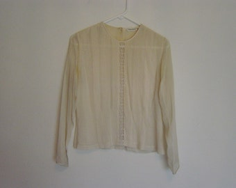 gorgeous vintage tahari silk blouse 4 small