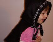 Black Fleece Baby Hood