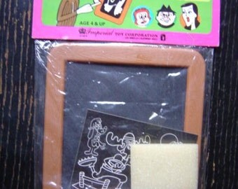 Bullwinkle (and Rocky of course) Chalk board toy by Imperial Toys 1979