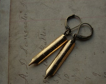 Victorian Pen Nib Earrings - Scribbles No. 022