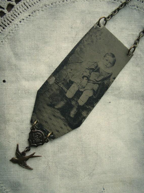 Little Frances - Antique Victorian Tintype Necklace