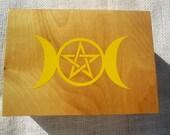 Handmade Wooden Tarot Box Oak Birch