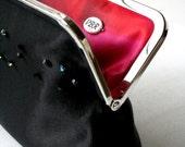 Black evening monogram clutch ... luxury eco-friendly fabrics