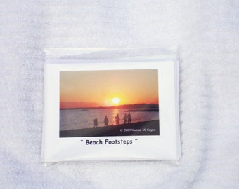 Beach Footsteps Set of 6 notecards
