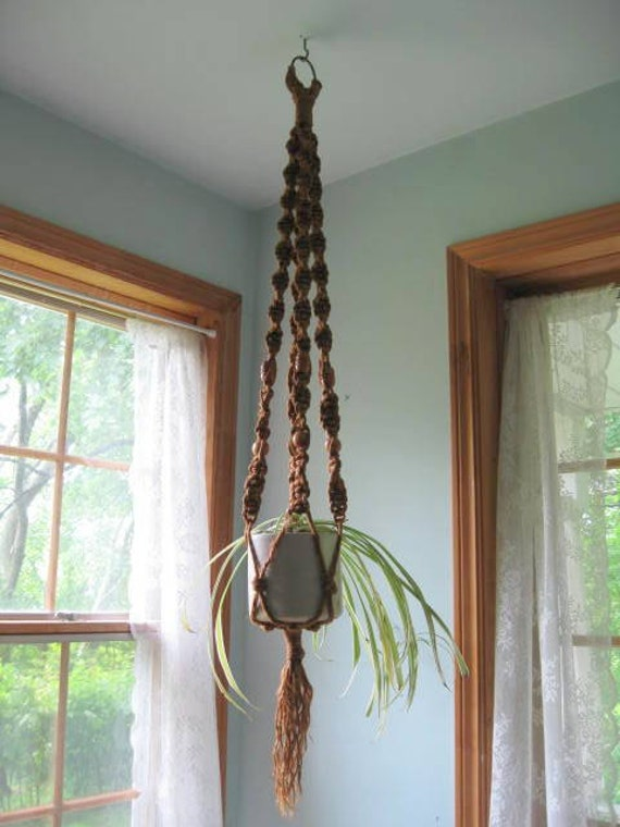 etsy macrame plant hangers macrame rope plant hanger retro decor by mailordervintage 2377