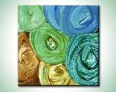 CANDY SWIRLS... original 4x4 acrylic painting... reserved for mary schaefer-roper