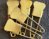 5 Scarce BLANK Vintage Laundry Pins NO Embossed Numbers on Marker Tag Pins