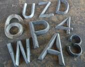 Antique Lead Number FOUR 4 Marker Tag Art Deco Retro Mid Century Vintage Hardware