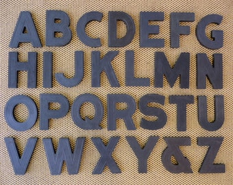 Vintage Complete Alphabet A to Z Block Style Black Marquee Letter Signage