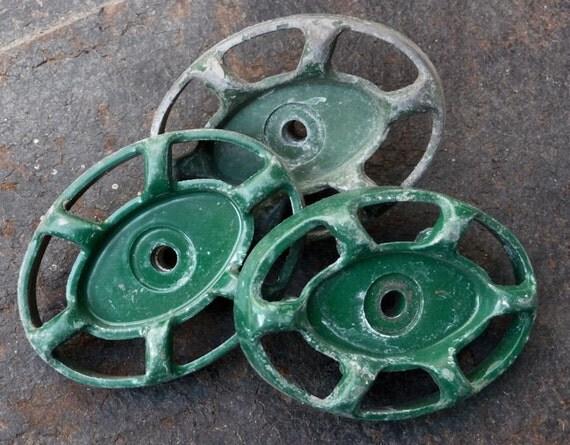 Colorful Oval Green Water Valve Handle Spigot Knob Turn Key