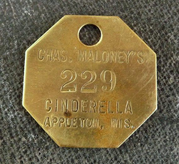 RaRe Brass Primitive Rustic Shabby Numbered Tag Vintage Patina Charm Finding Number No 229
