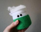 Knit your own Amigurumi Bubbling Beaker (pdf knitting pattern)