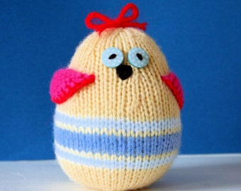 Knit your own little jingle bird (pdf knitting pattern)