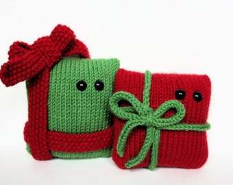 Knit your own amigurumi Christmas presents (pdf knitting pattern)