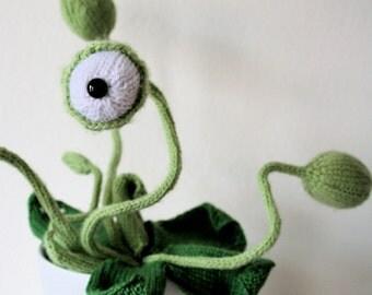 Knit your own cyclops pot plant (pdf knitting pattern)