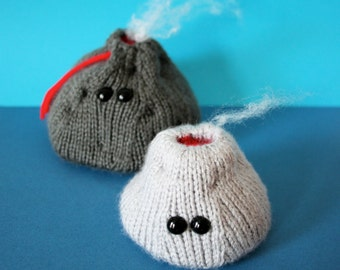 Knit your own Amigurumi Volcano Family (pdf knitting pattern)