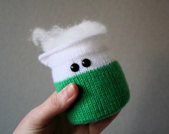 Knit your own Amigurumi Bubbling Beaker (pdf knitting pattern)