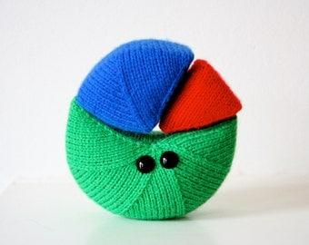 Cutie Pie Chart (Red, Green & Blue)