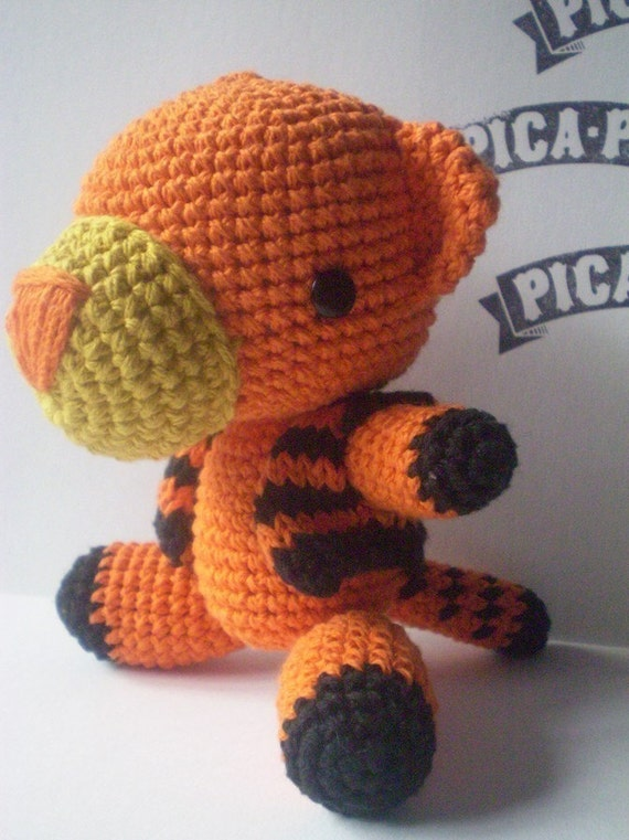 Amigurumi Patterns Tiger : Amigurumi Tiger Pattern PDF by PicaPau on Etsy