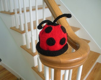 Ladybug Baby/Toddler Hat