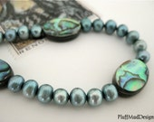 October Sale - 20% Off Abalone & Fresh Water Pearl Bracelet