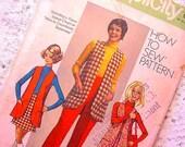 Vintage Simplicity 8917 Pattern 1970 Vest, Mini-skirt with Pants Size 14 UNCUT