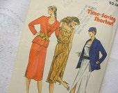 Butterick 6841 Dress and Jacket Pattern 1980s Size 6-8-10
