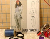 Vintage 1987 McCall's 3025 French Connection Sewing Pattern Annie Hall influence Size 14 - 16 Uncut