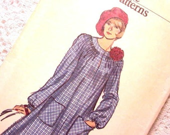 Vogue 9098 Chemise Dress Pattern Size 12 1980s  Very Easy suitable for knits