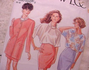 New Look Pattern 6940 Office Chic Jacket, Blouse, Wiggle Skirt  Size 8 to 18