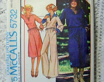 McCalls 5732 Pattern Misses Culottes,Top,Pants 1977 Petite Size 6 or 8 UNCUT Quick and Easy