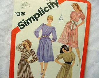 Simplicity 5959 Dress 4 Sleeve Styles 1983 Size 8-10-12 UNCUT Sewing pattern