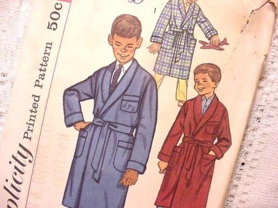 Vintage Simplicity 3242  Pattern Boys Robe with Monogram Transfer Size 10