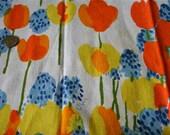 Vintage Mod Vera - 1960s 1970s Bright Tulips Flowers Napkin - 3